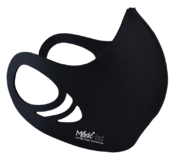 Antimicrobial Spacer Face Mask - Solid Black
